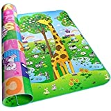 Shopo Water Resistant Baby Play Mat Floor Mat Double Side Baby Play Crawl Mat Yoga Gym Floor Carpet For Outdoor Playing, Picnic, Garden And More (120 X 90)