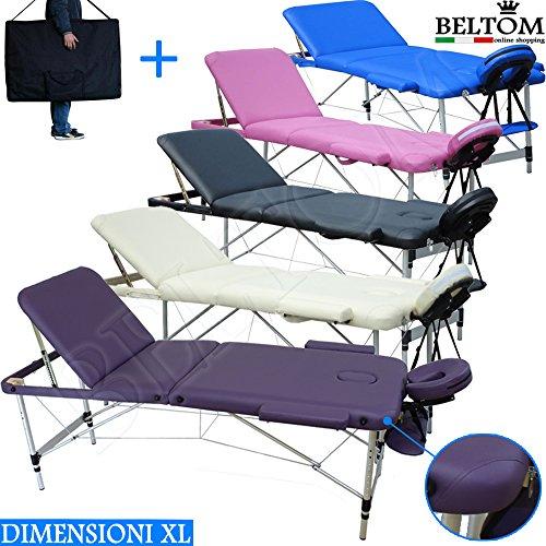 Lettino Per Massaggio Portatile In Alluminio.Naipo Lettino Da Massaggio Deluxe Professionale Portatile A 2