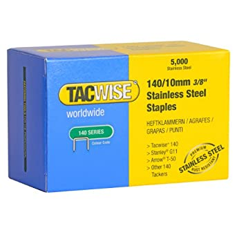 Tacwise 0477 Boîte de 5000 Agrafes en Acier Inoxydable 10 mm Type 1400
