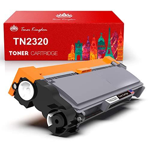 Toner Kingdom 1 Pack Cartucho de tóner Compatible Brother TN2320 para su Uso en Brother HL-L2300D HL-L2320D HL-L2340DW HL-L2360DN HL-L2360DW HL-L2365DW HL-L2380DW DCP-L2500D DCP-L2520DW DCP-L2540DN