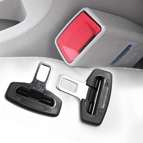 Boonor 2x Anti Gurtwarner Sicherheitsgurt Gurtstecker Gurtalarm Gurtschloss Gurtalarm Stopper von passend Universal für die meisten des Autos