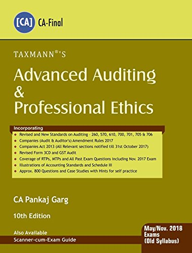 Advanced Auditing & Professional Ethics (CA-Final) (for May 2018 Exam-Old Syllabus)
