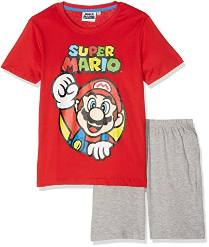 Super Mario Bros Chicos Pijama mangas cortas - Rojo - 128