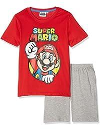 Super Mario Bros Chicos Pijama mangas cortas - Rojo