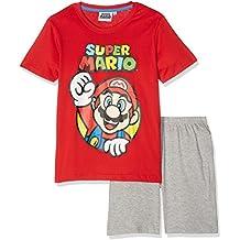 Super Mario Bros Garçon Pyjama court - rouge