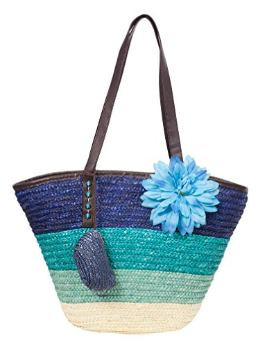 K.B. Barrow, Borsa tote donna medium Blue