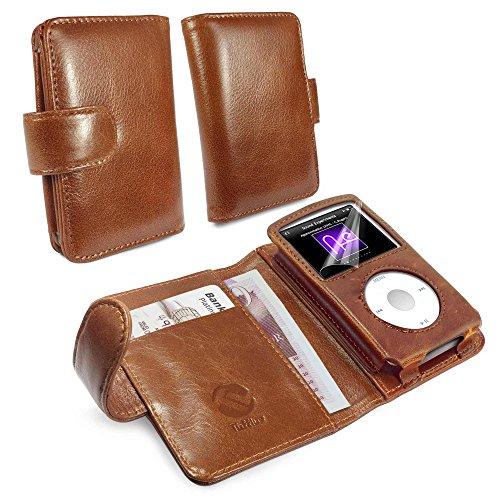 Tuff-Luv Vintage Leder Wallet Cover Schutzhülle für Apple iPod Classic, Braun Leder Apple Wallet