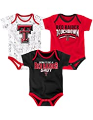 "Texas Tech Red Raiders NCAA ""Playmaker"" Infant 3 Pack Bodysuit Creeper Set"