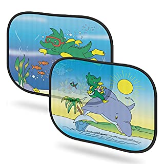 Motenik 2 Pack Baby Car Window Sunshade - Auto Static Cling Sun Shades Protector to Protect Baby & Infants from Sun, Glare And UV Ray, Best Auto Accessories for Side Window, Size 17 x 14.4 Inches