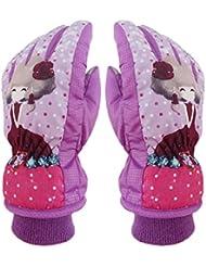 Zerlar Lovely Cartoon Waterproof Windproof Ski Gloves Snowboard Mittens for Girls Princess Kids