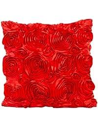 Fossrn Fundas de Cojines 45x45 Vintage Bordado de rosas Funda de Cojines para Sofa Jardin Cama