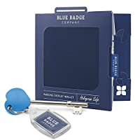 Blue Badge Company Blue Disabled Badge Wallet with Radar Key and Free Clock