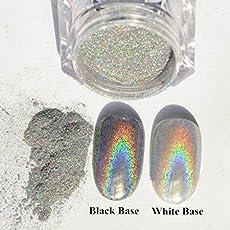 Stylazo 2g Holographic Laser Rainbow Nail Chrome Powder Dust Pigments Nail Art Decoration
