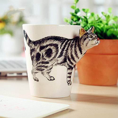 Handbemalte Keramik Tasse 3D Niedlichen Cartoon Tier Becher Kaffeetasse Büro Trinkwasser Tasse