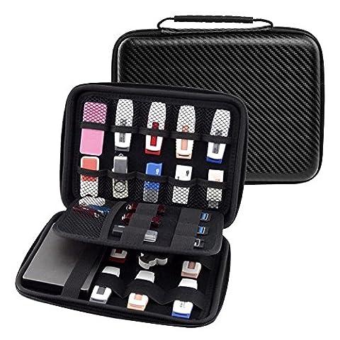 Ropch Zubehör Tasche Kabel USB Sticks Aufbewahrungstasche Organizer Speicherkarten Festplatten