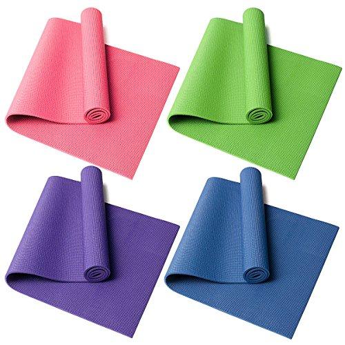 MaMaison007 8 MM spessore Yoga Tappetino Pad Fitness esercizio palestra formazione tappetino elastico antiscivolo cuscino 173 x 61cm-rosa