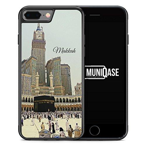 iPhone 8 Plus Hülle SILIKON - Panorama Makkah Mekka - Motiv Design Islam Muslimisch Schön - Handyhülle Schutzhülle Cover Case Schale