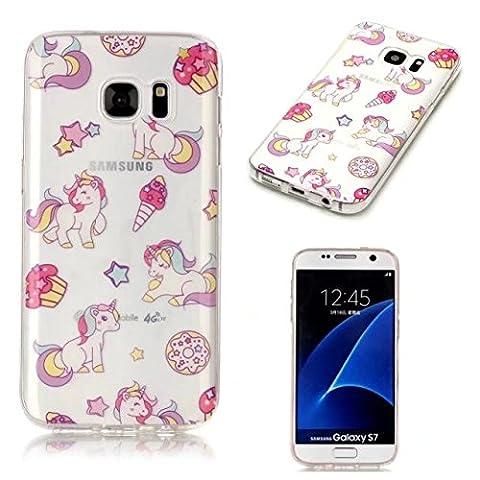 KSHOP Coque Samsung Galaxy S7 TPU Luxe Silicone Etui Ultra