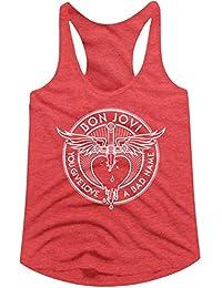 American Classics Bon Jovi Bad Name Red Heather Ladies Racerback Tank Top Tee