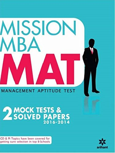 Mission MBA MAT Management Aptitude Test (Old Edition)
