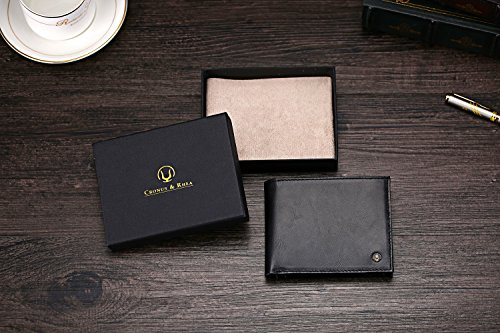 51wdLzGCXYL - Cronus & Rhea® | Luxury wallet with coin pocket made of exclusive leather (Plutus) | Wallet - Money Clip | Real leather | With elegant gift box | Men