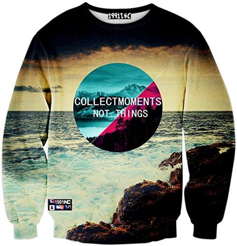 Mann Aus Den Bergen, Tee (Pizoff Unisex Hip Hop Sweatshirts mit 3D Digital Print 3D Muster meer berg kontrast Y1759-H8-M)