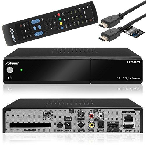 Xtrend ET 7100 V2 HD 1x DVB-C/T2 Tuner H.265 Linux Full HD 1080p HbbTV Kabel Receiver