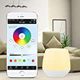 lighteu, 2 W RGB luz Wireless 2.4 G ORIGINAL Mi de Light WiFi iBox Smart Light Compatible con iOS/Android o superior para mi de Light Blubs foodlights tracklights String ligts, Noche Lámpara Mood Lights Decoración
