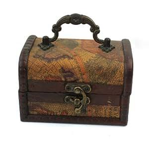 Vintage Bois Coffret Boîte Box À Bijoux Stockage Rangement Collier Bracelet