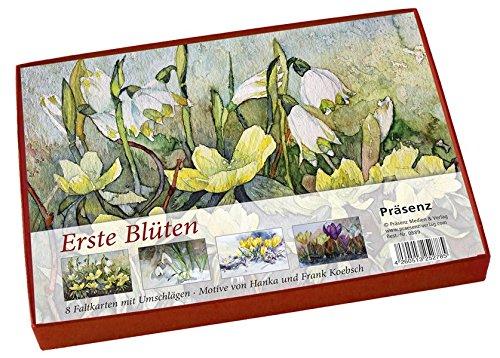 Erste Blüten: 8 Faltkarten mit Umschlägen / Motive von Frank Koebsch