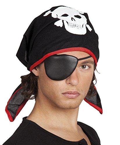 Kopftuch mit Totenköpfen Pirat Piratentuch Halstuch Tischdeko Deko Halloween