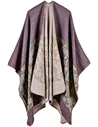Voguehive - Poncho - Floral - Sin mangas - para mujer