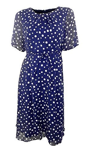 marks-spencer-navy-white-spotted-chiffon-fit-flare-dress-14