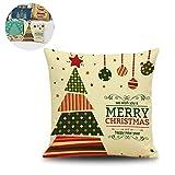 Der Druck von Weihnachtsdekoration Motiv Umarmungen Wohn Pillowcase Verzweigte 18 × 1 18inches Aus
