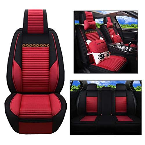 Preisvergleich Produktbild Love Life Autositz-Set,  flaches Sitzinnenkissen aus Stoff und Stoffbezug (schwarz),  geeignet für die meisten PKW,  LKW,  Geländewagen oder Van, Red