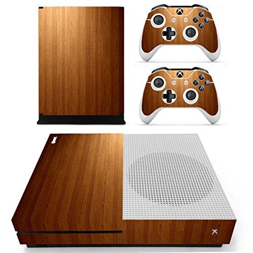dotbuy Xbox One S selbstklebend Konsole Decal Vinyl Skin Sticker + 2selbstklebend Controller + 1selbstklebend Kinect Set bronze Wood Brown - Xbox One Zumba