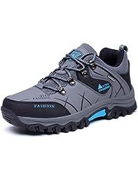 Onenice Chaussures de randonnée homme High Top Chaussures de trekking antidérapant extérieur chaud imperméable Marche escalade Sneakers