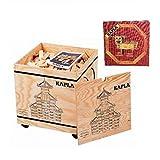 Kapla 1000 Holzkiste mit Kunstbuch Rot (6+)