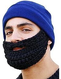Rockjock Fuzz Face Wacky Barbe Detachable Homme Garçon Fille Hiver chaud Beanie Knit Chapeau extérieur de cadeau de Noël