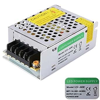 XCSOURCE DC 12V 36W Alimentation LED Transformateur Pour Ruban/Bande de Lampe LED LD506
