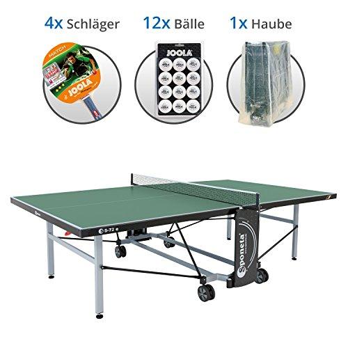 Preisvergleich Produktbild Sponeta S 5-72e Family Set XL - Tischtennisplatte S 5-72e,  4x Joola Schläger,  12x Joola Bälle,  Abdeckhaube