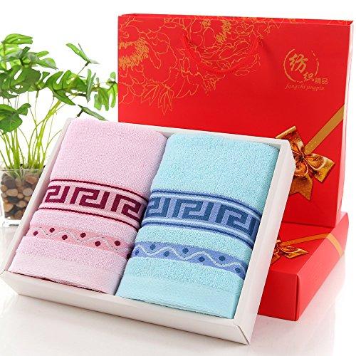 Baumwoll-Luxus-Handtücher, Haushalt Bad Handtücher-Sets geben Ihnen königliches Gefühl, weich und komfortabel (2 Stück Handtuch-Set,) (Turnhalle Kleine Schweiß Handtücher)