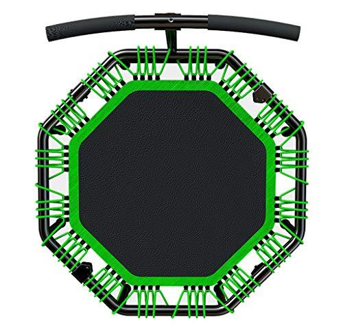 LKFSNGB Tragbares Haushaltstrampolin mit Stabilisator Faltbares Fitness-Trampolin/Rebounder Erwachsene Kinder Indoor Indoor Cardio Workout Grün