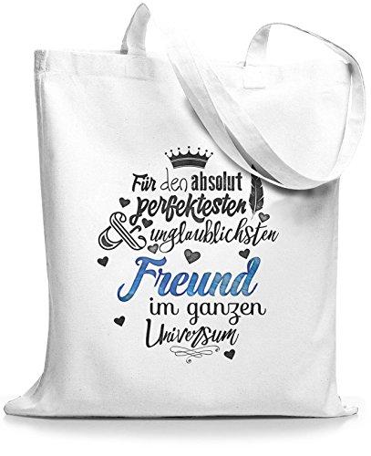 StyloBags Jutebeutel / Tasche Für den absolut perfektesten Freund Weiß