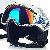 FERFERFERWON Snowboardhelm Mann/Frau/Kinder Ski Helm/Goggles Sets Snowboard Helm Skateboard Schneemobil Maske Schnelle Moto Bike Radfahren Klettern Sport Sicherheit (Farbe : No.23, Größe : L 59-64cm)