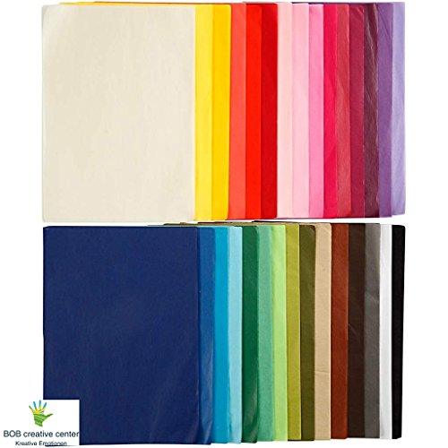 Seidenpapier Sortiment, 21x29,7cm (DIN A4)cm, 300 Blatt,14gr., 30 Farben a 10 Blatt
