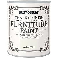 Rust-Oleum AMZ0012 A Classic, Smooth Touch Flat matt Paint Finish, Antique White, 750ml