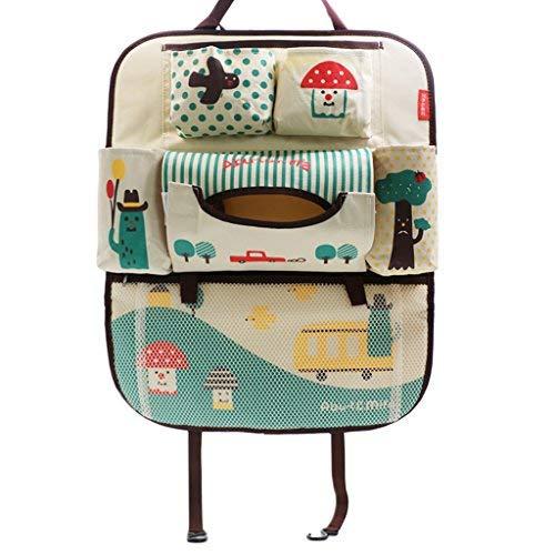 2x Rückenlehnentasche Spielzeugtasche SorgfäLtig AusgewäHlte Materialien Rückenlehnenschutz Rücksitztasche
