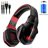 Bluetooth Gaming Headset Noise Cancelling, vprawls je b3505NFC Stereo V4.1Wireless/Wired Over-Ear Gaming Kopfhörer mit Mikrofon für PC Computer Mac Laptop iPhone Smartphone