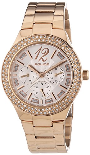 POLICE - P14306MSR-04M - Montre Femme - Quartz - Analogique - Bracelet Acier Inoxydable Or et Rose